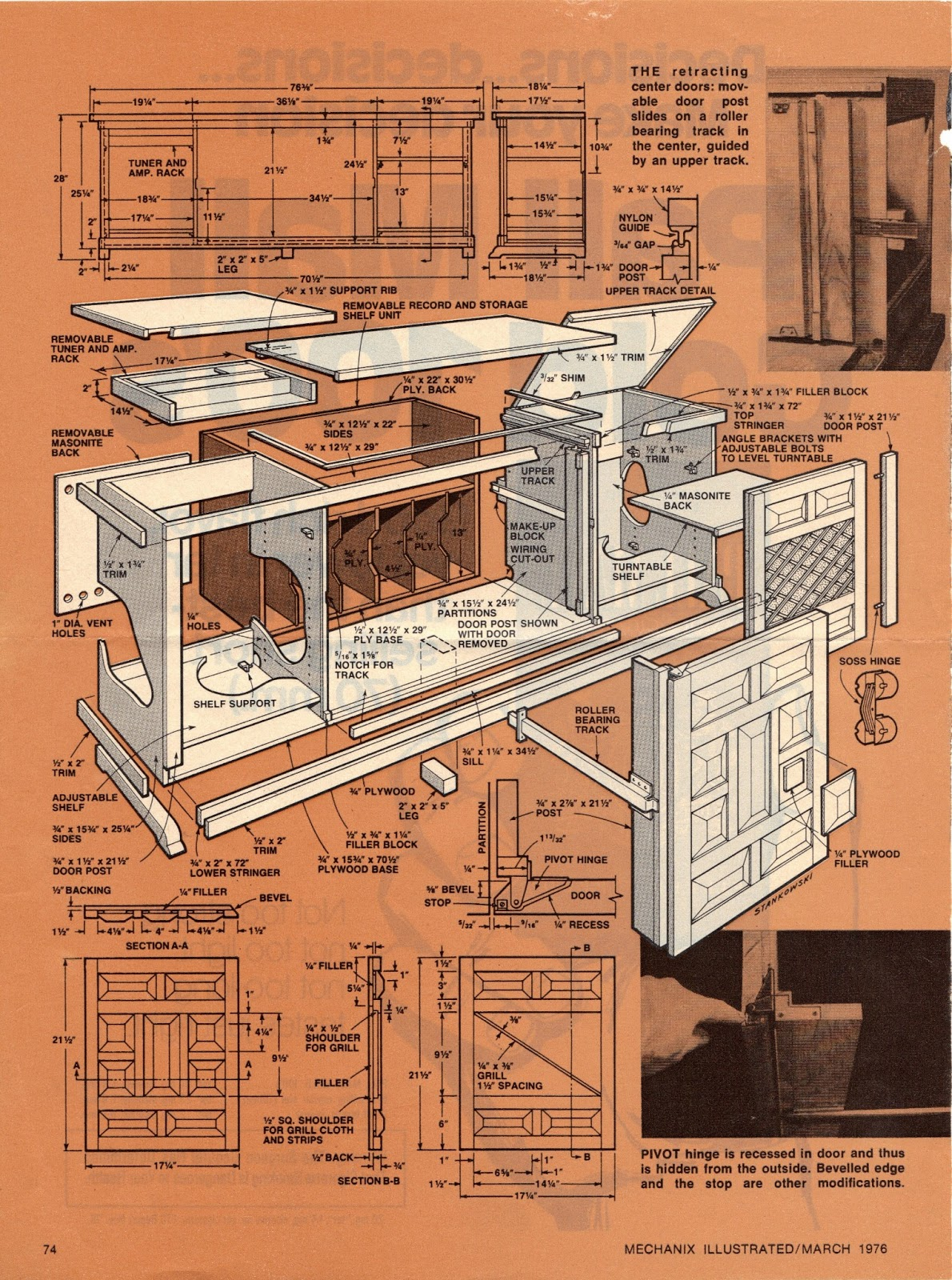plans for stereo cabinet