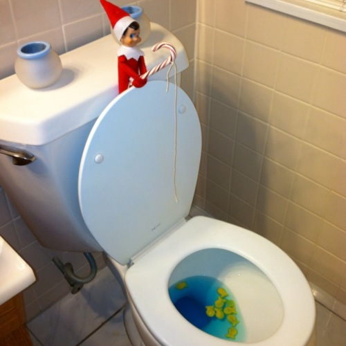 Nycitified the five worst christmas gifts for my future kid for Elf on the shelf bathroom ideas