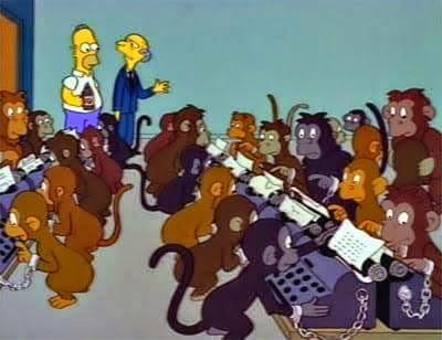 Monos-escribiendo-en-máquinas-de-escribir.
