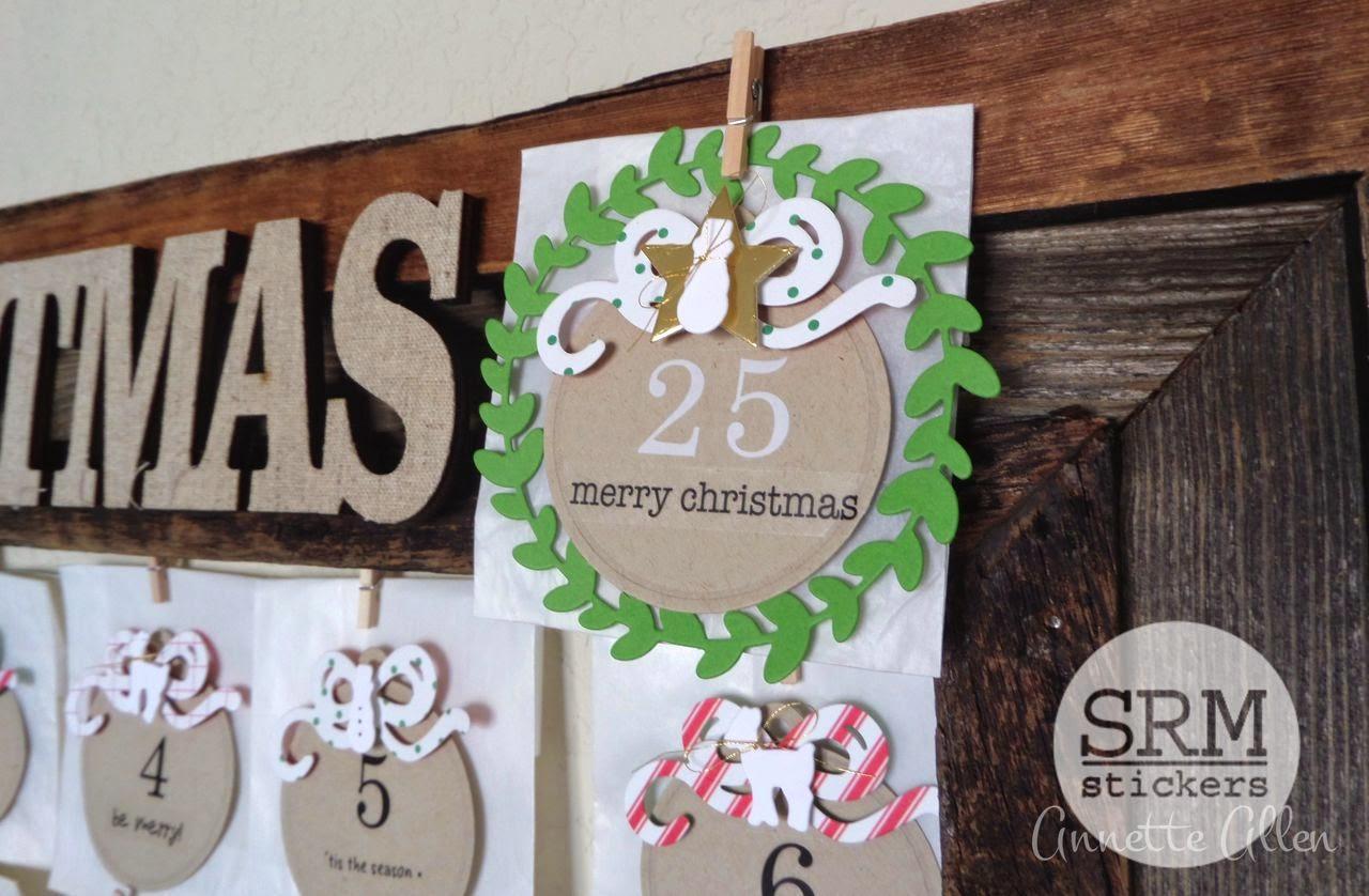 SRM Stickers Blog - Christmas Advent Calendar by Annette - #christmas #calendar #adventcalendar #stickers #glassinebags
