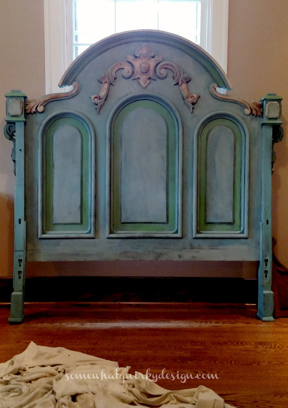 Somewhat quirky a headboard to remember for Painting a headboard