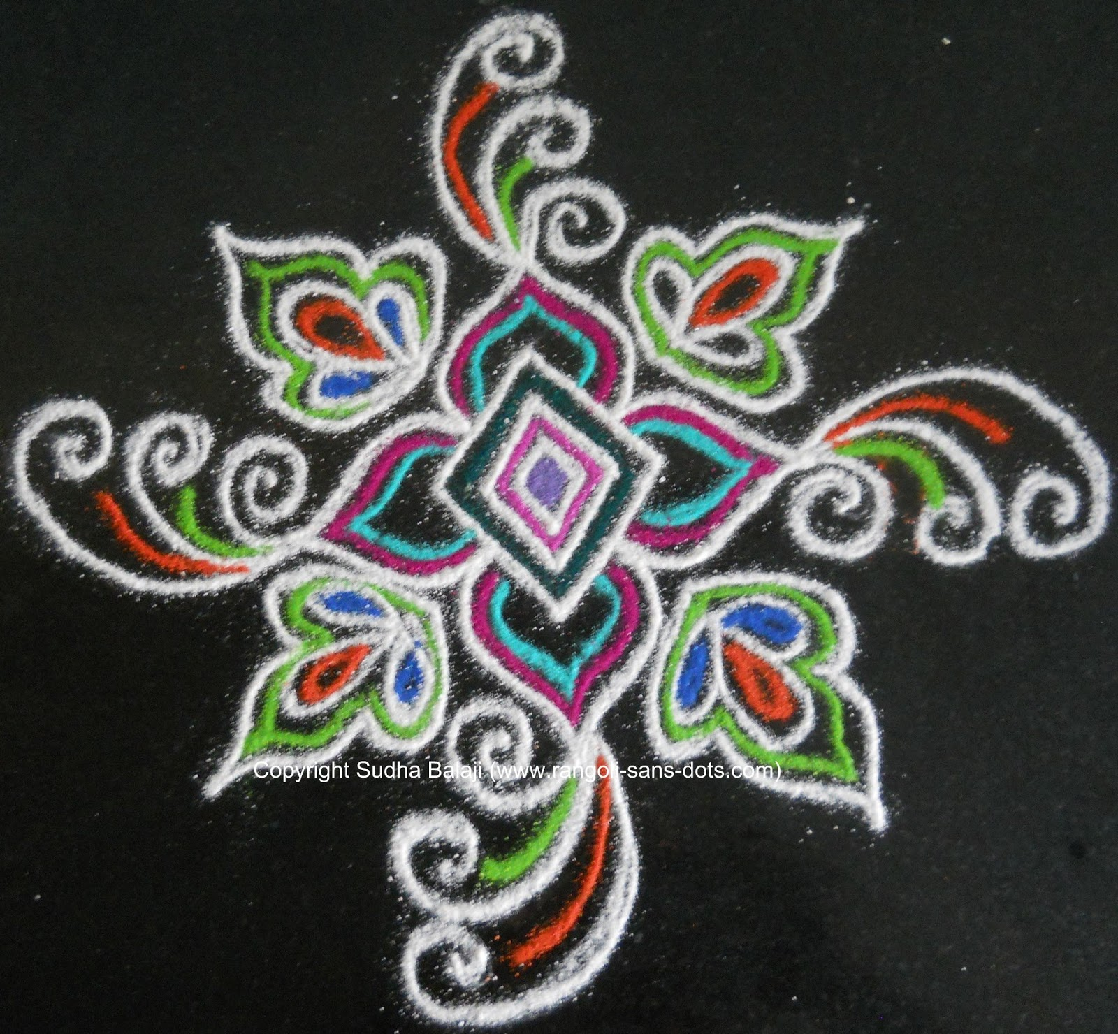 Gallery images and information: Simple Rangoli Kolam Patterns