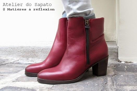 Bottines bordeaux Atelier do Sapato