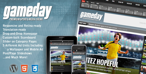 Gameday - Wordpress Sports Magazine Theme