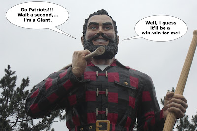 Super_Bowl, 2012, Paul_Bunyan, football,giant, patriot