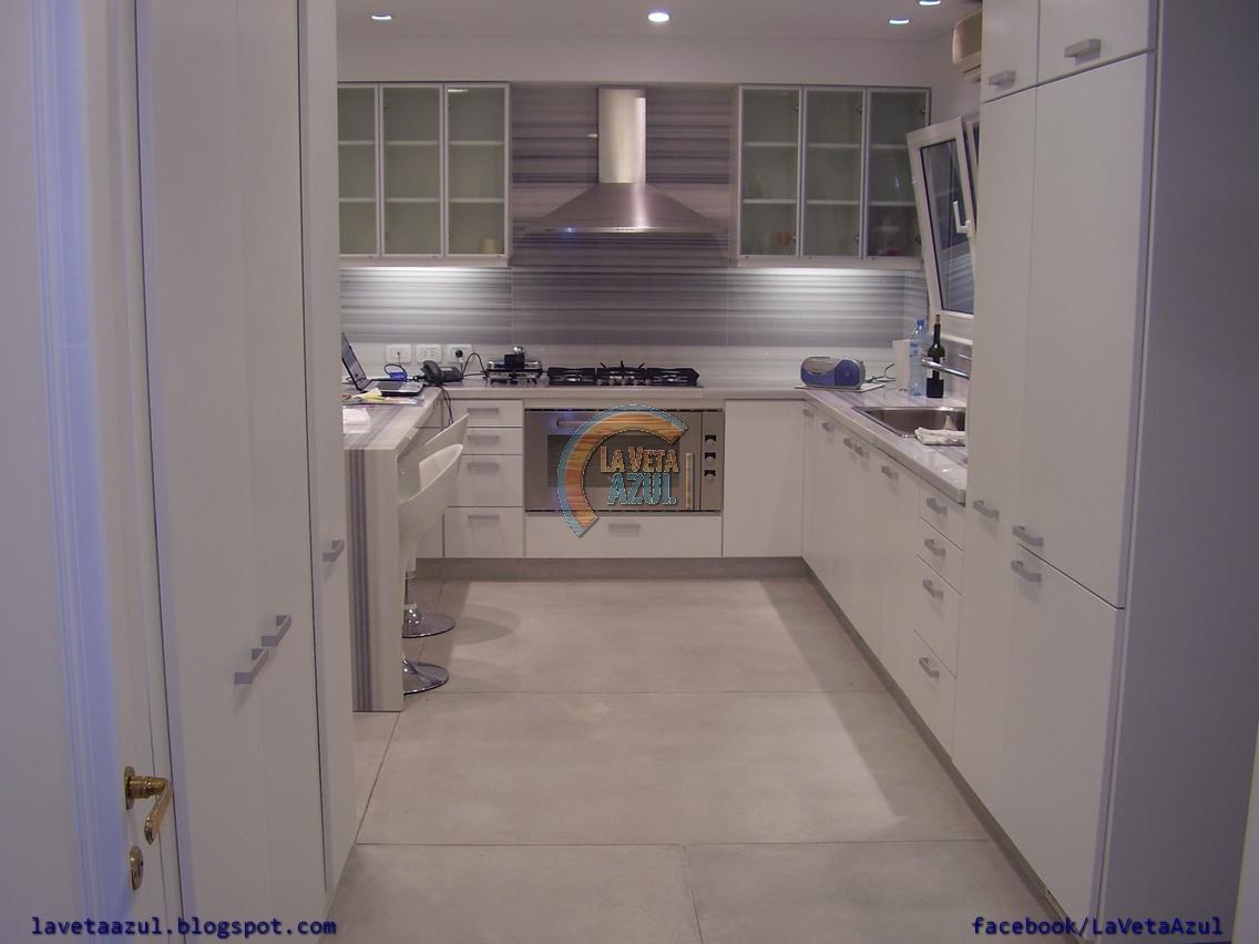 La Veta Azul Mueble Cocina En Termoformado Blanco
