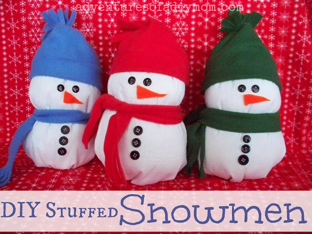 DIY Stuffed Snowman
