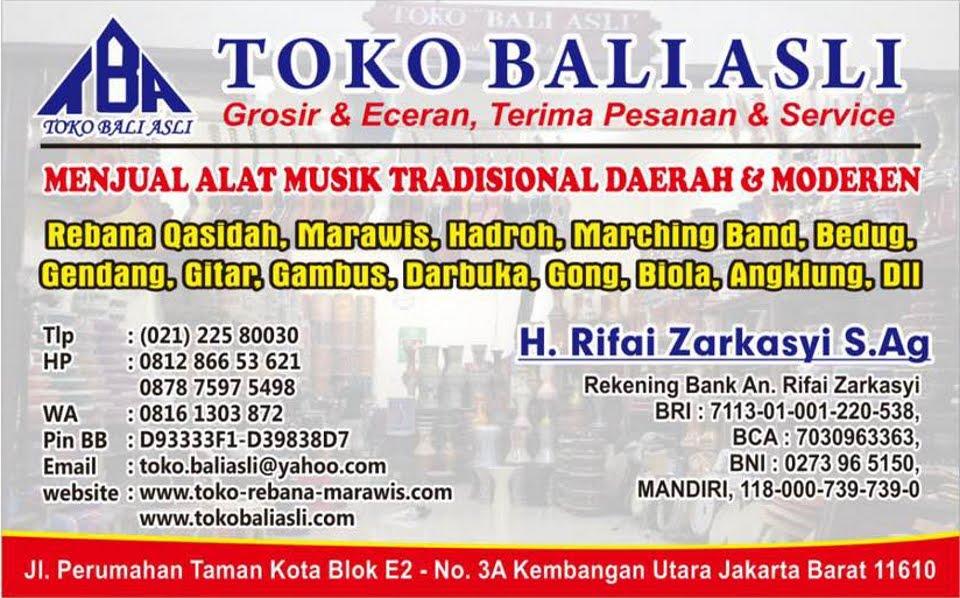 Toko Bali Asli Musik Jual Rebana Marawis Hadroh Gamelan Gong Darbuka Gambus Gendang Angklung Gitar