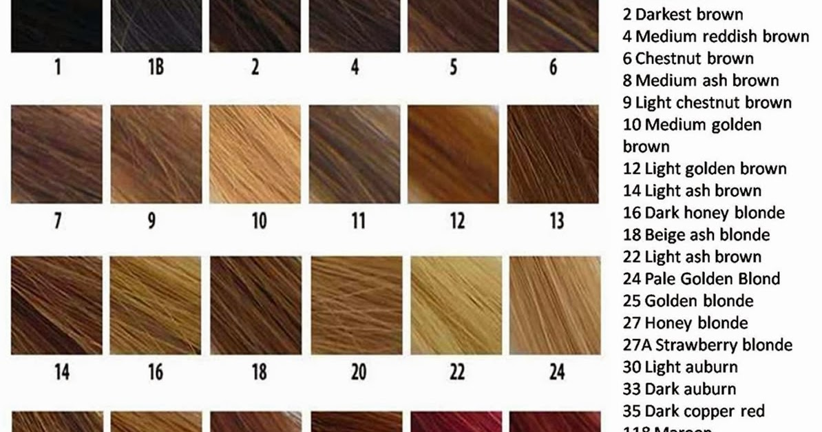 The Weave Queenz Color Chart