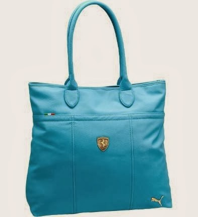 Light Blue Ferrari Handbag