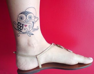 Ankle Owl Tattoos