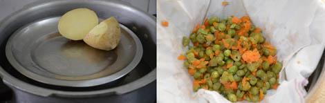 boiling veggies for kofta
