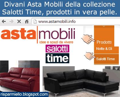 Risparmiello divani asta mobili salotti time for Mobili firmati outlet