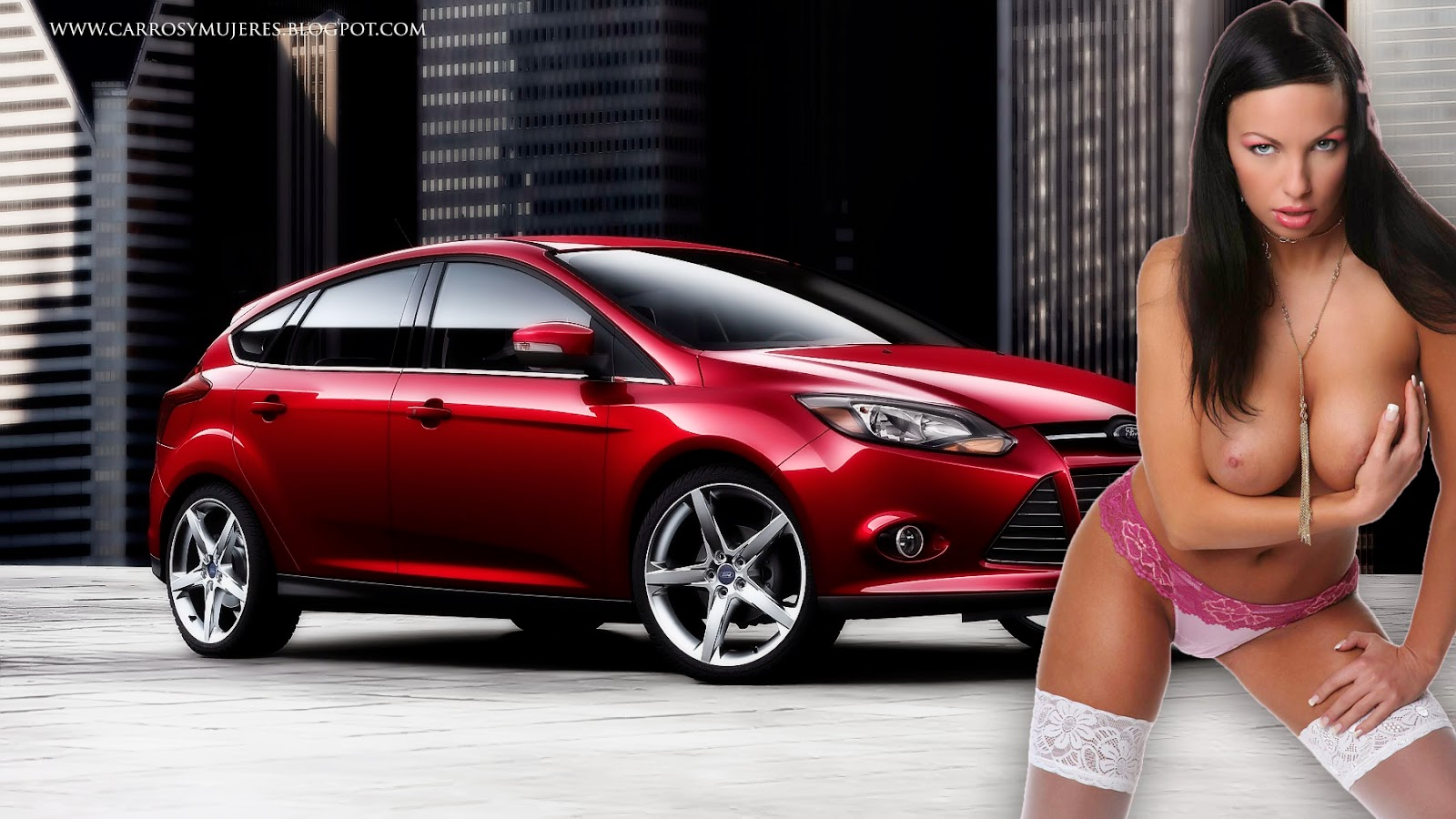 FOTOS DE CARROS Y MUJERES: WALLPAPERS DE HERMOSAS MUJERES Y FORD FOCUS