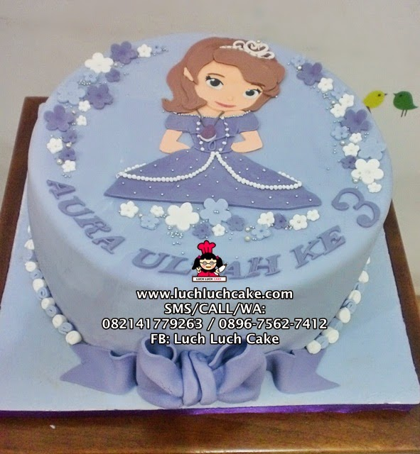 Kue Tart Sofia the First Fondant 2D