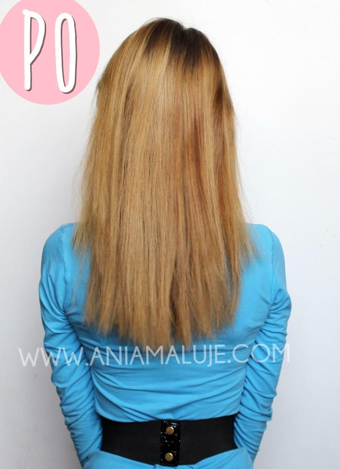 olejowanie włosów, efekty