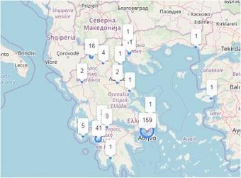 Ο κορονοϊός στην Ελλάδα σε… real time Ο live χάρτης με τα κρούσματα
