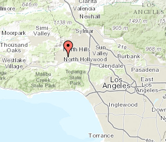 Map of Woodland Hills, California
