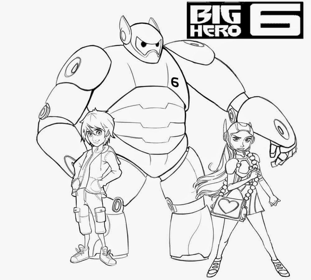 Easy Fun Art Animated Film Illustration Big Hero 6 Coloring Pages Free Cartoon Kids Disney Printable