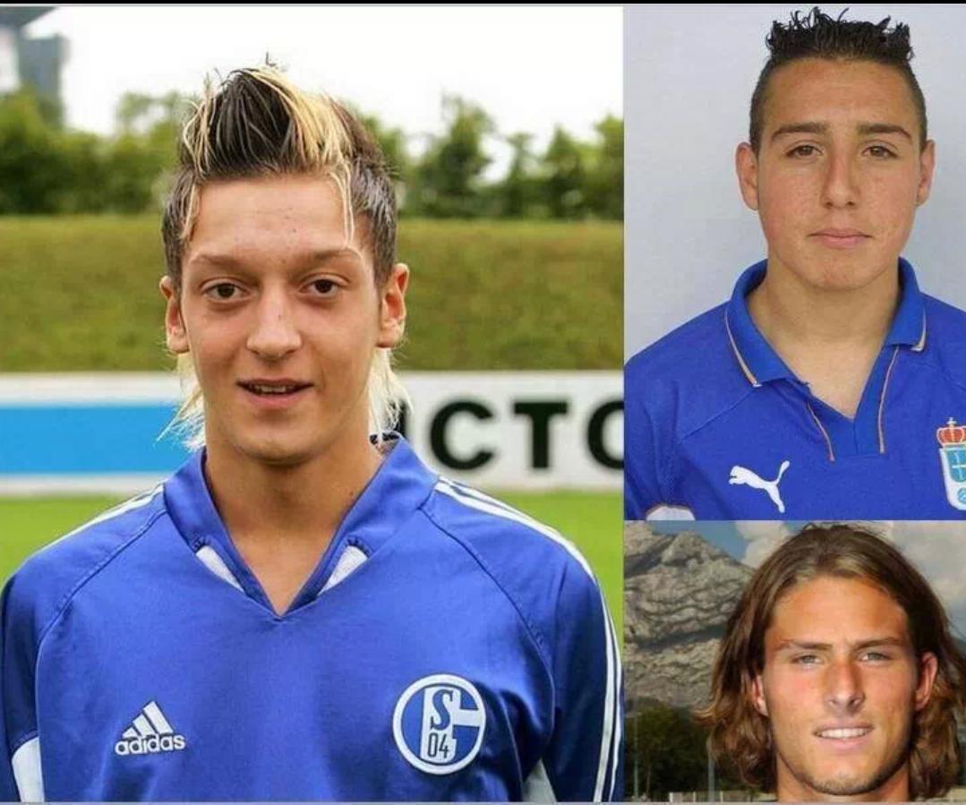 Wajah muda remaja Mesut Ozil Santi Cazorla dan Olivier Giroud