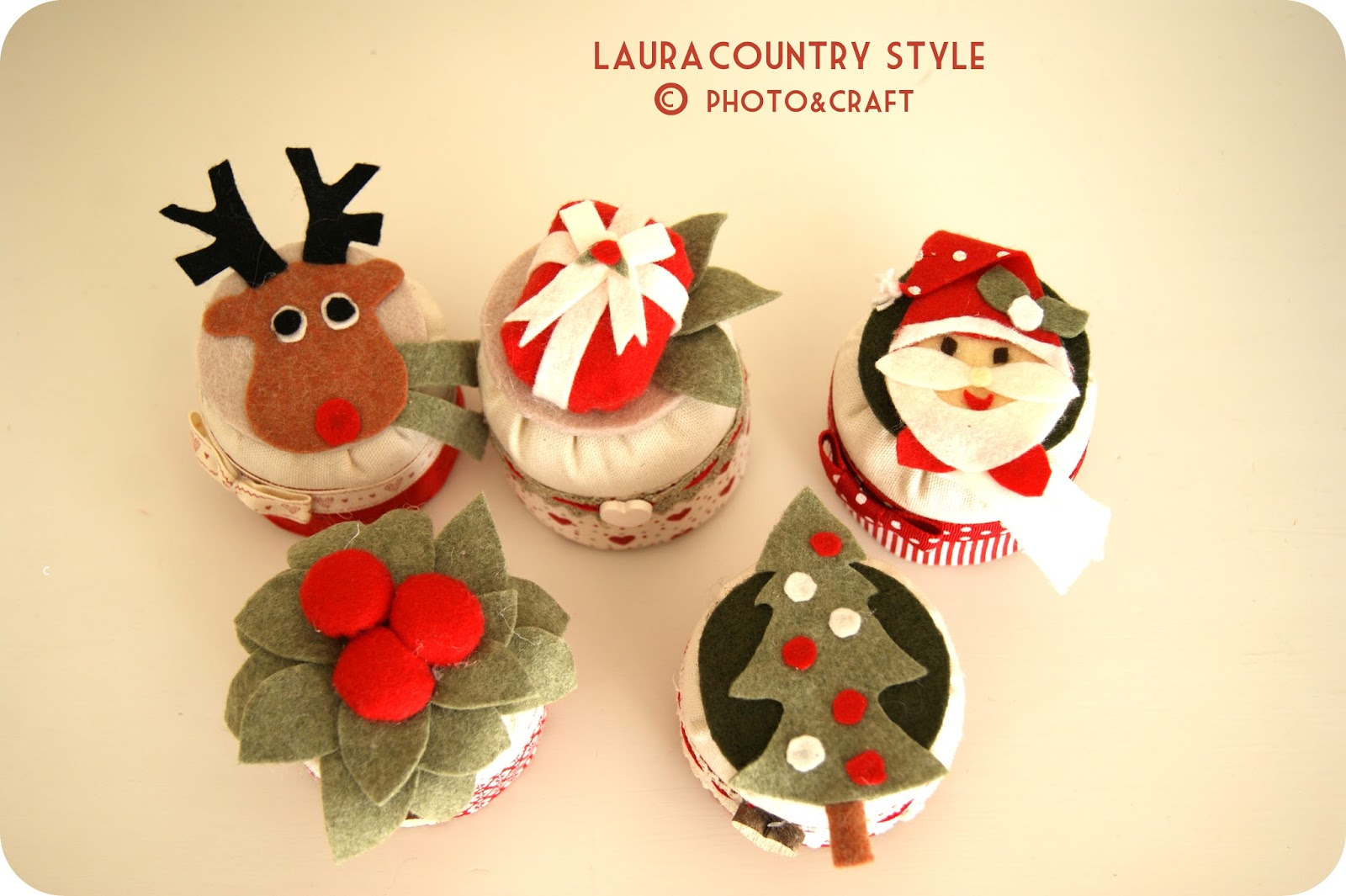 Country style: Christmas cupcake