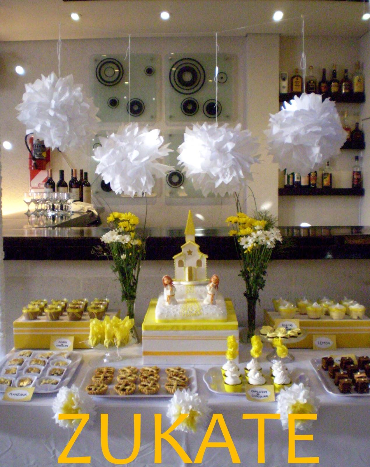 Arreglos de mesa con dulces para primera comunion auto - Adornos para primera comunion ...