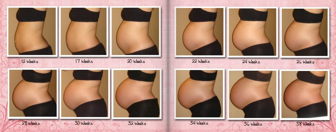 Когда заметен живот у беременных 98