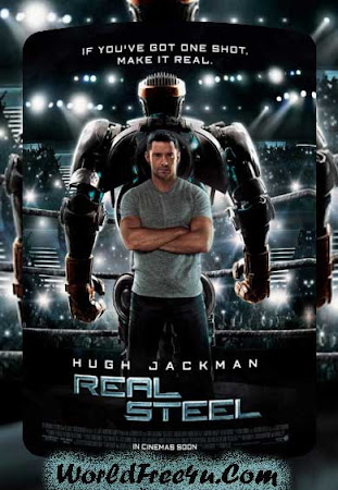 Poster Of Real Steel 2011 In Hindi Bluray 720P Free Download
