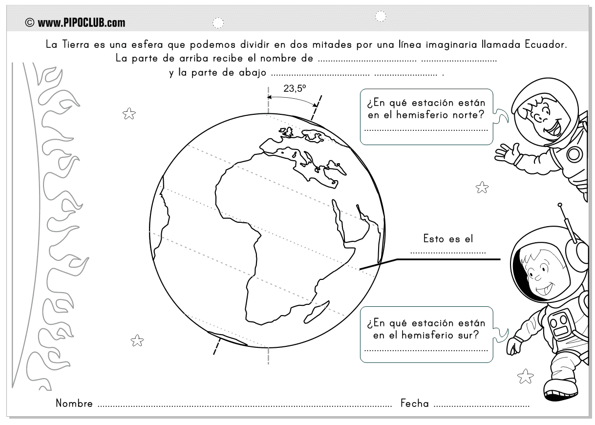 Movimiento de traslacion de la tierra para colorear - Imagui
