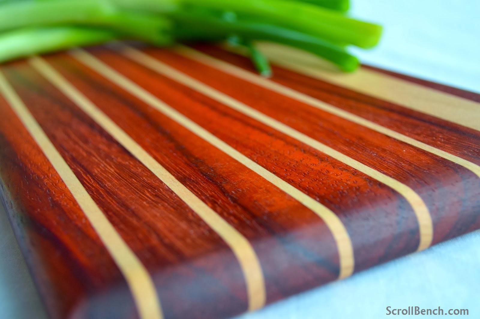 Hardwood Cutting Boards ~ Scroll bench making of exotic hardwood cutting boards
