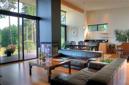 Waterfront luxury house plans modern ideas with beautiful views of bainbridge island modern - Waterfront home design ideas ...