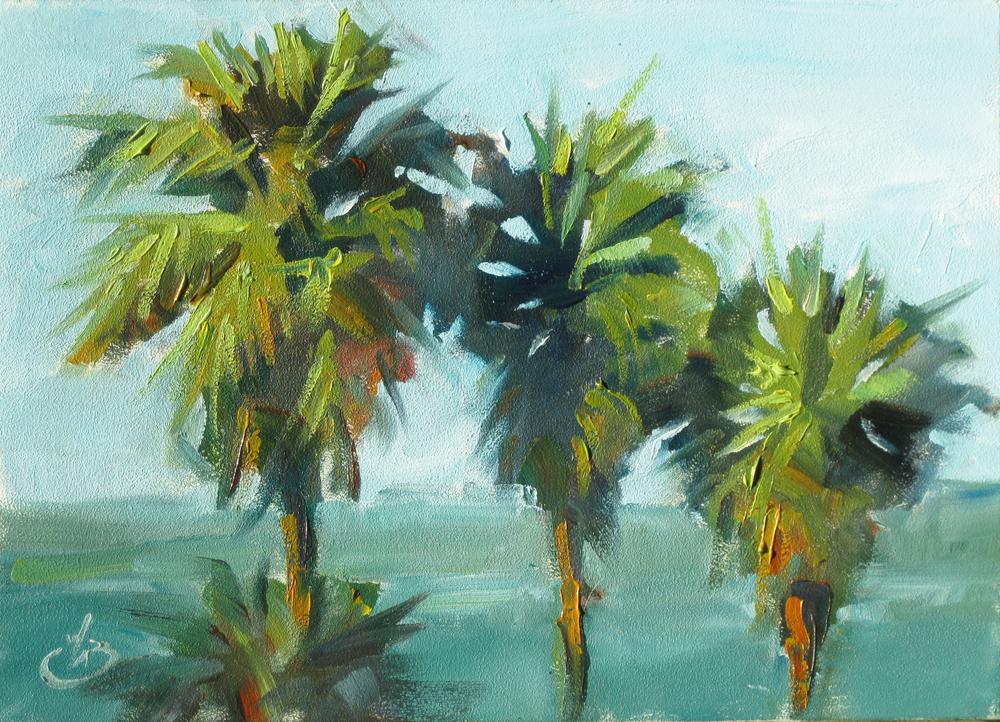palm tree watercolor - photo #28