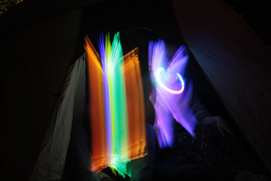 colorful light painting