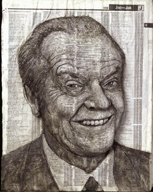 06-Jack-Nicholson-Phone-Books-Sculpture-Carving-Cuban-Artist-Alex-Queral-WWW-Designstack-Co