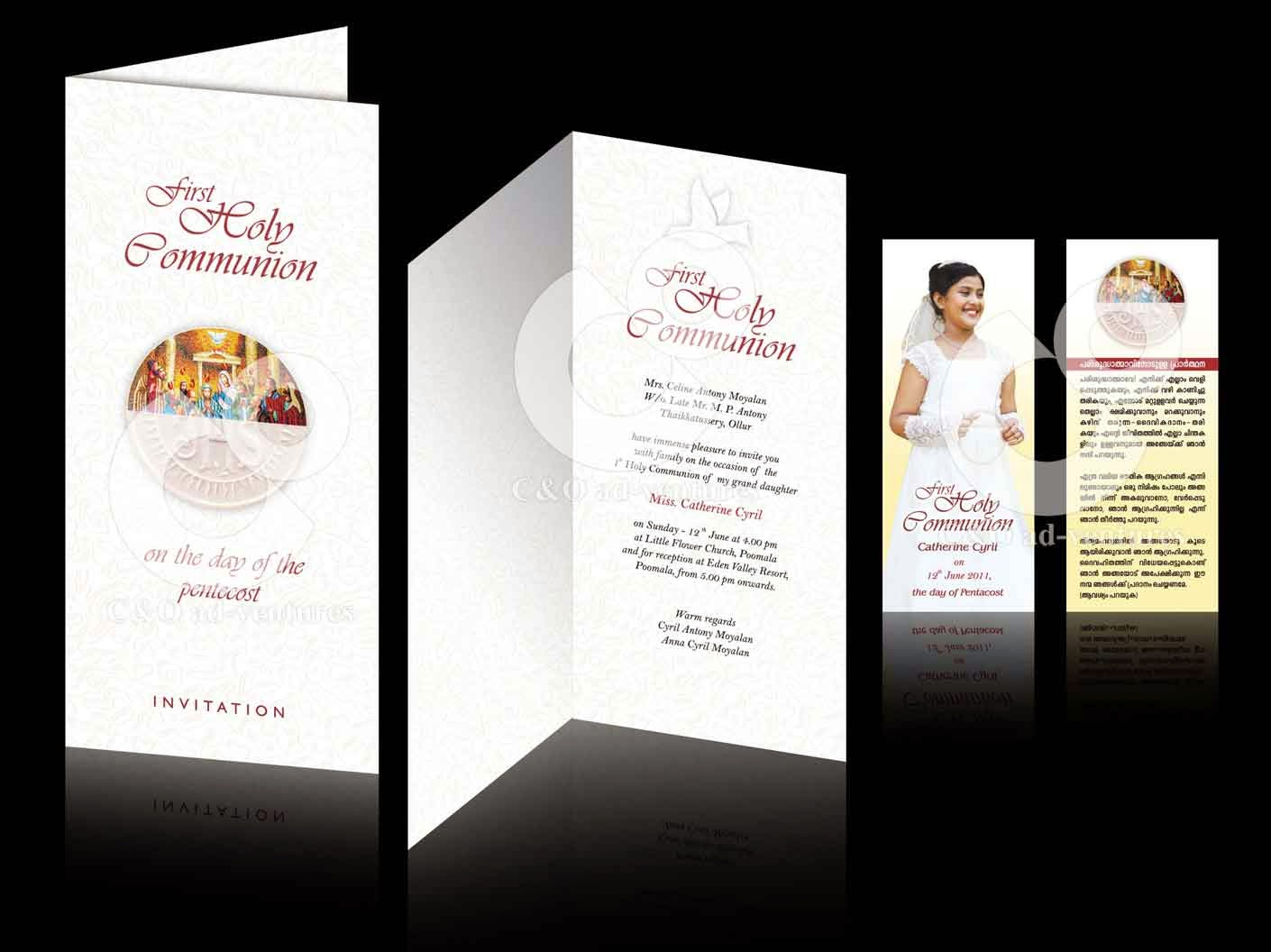 C Amp O Ad Ventures First Holy Communion Invitation And