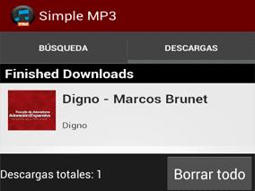 Sección de Descargas - App Simple Mp3 Downloader Pro