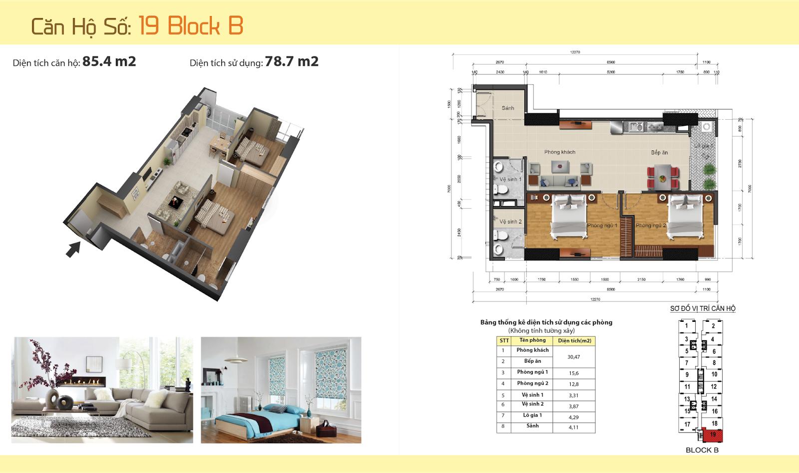 Thiết kế nội thất chung cư Gemek Tower 30