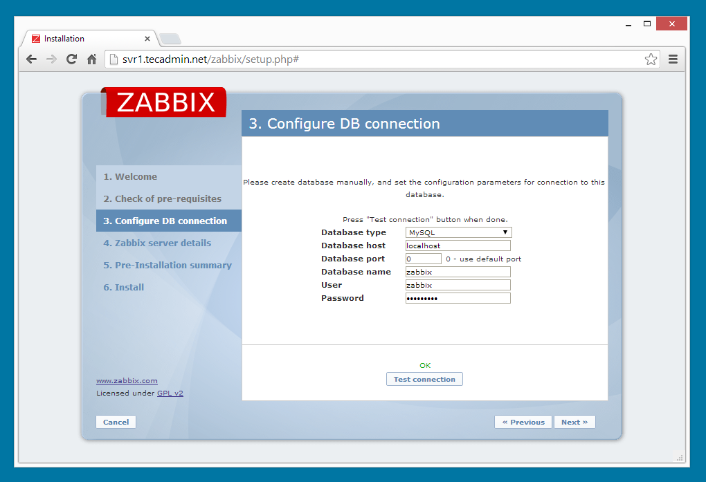zabbix installation on redhat linux