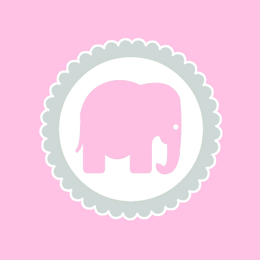pink elephant topper that matches our baby shower from yesterday pink