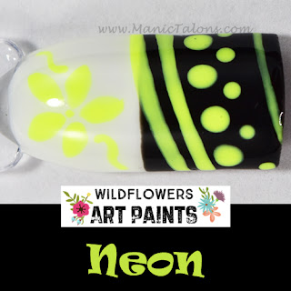 Wildflowers Nail Art Paint Neon