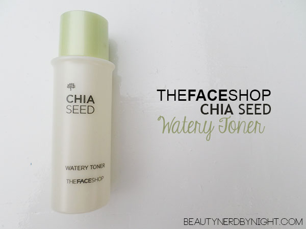Bag of Love July 2013: THEFACESHOP Chia Seed Watery Toner
