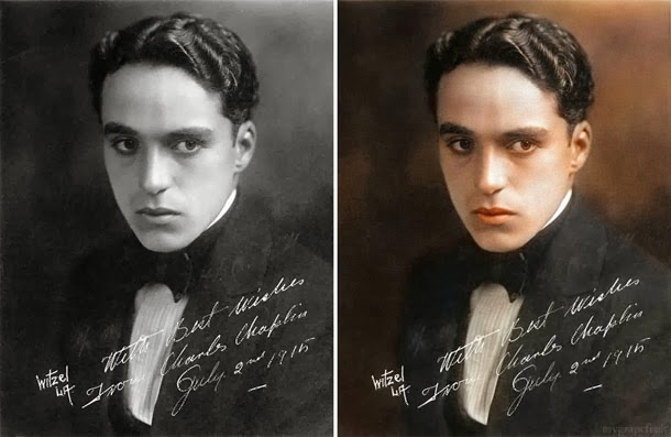 Charlie Chaplin - manipulação digital - Sanna Dullaway