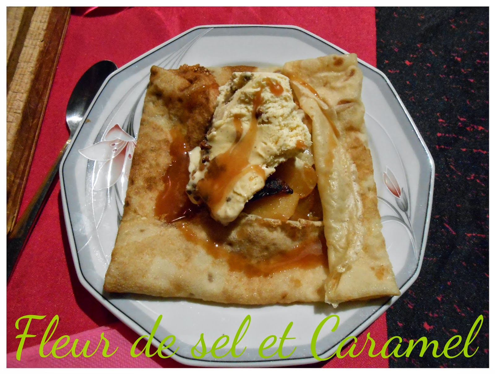 Crêpe aux pommes caramélisés et glace vanille noix de pécan pour la Chandeleur !