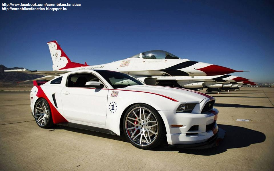 Car Amp Bike Fanatics Ford Mustang With A Private Jet