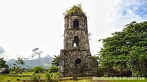cagsawa ruins and mayon panoramic
