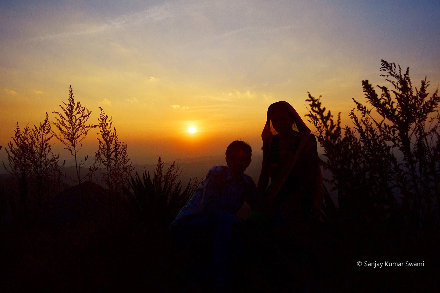 couple at evening