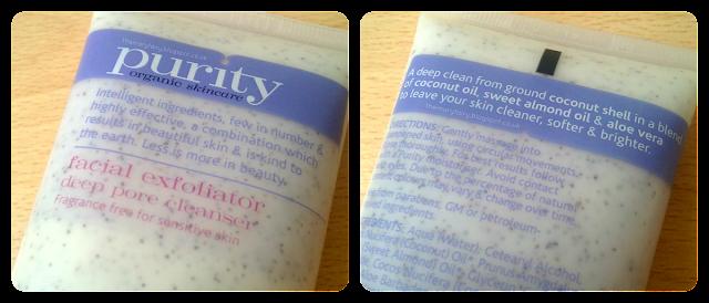 Purity Organic Skincare Facial Exfoliator Deep Pore Cleanser