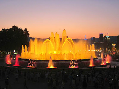 Magic Fountain in Montjuic