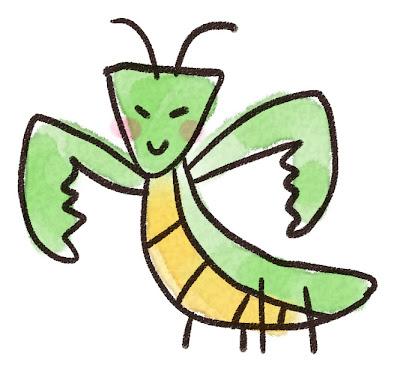 カマキリのイラスト(虫)