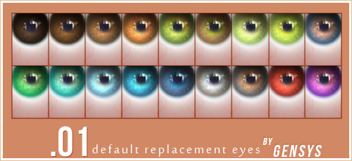 My Sims 4 Blog Default Replacement Eyes By Gensys